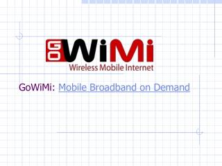 GoWiMi - Mobile Broadband on Demand