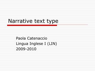 Narrative text type