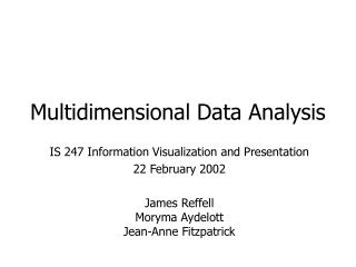 Multidimensional Data Analysis