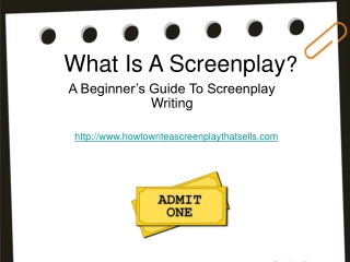 What is a screenplay