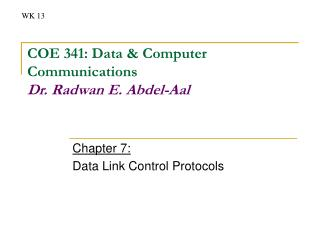 Chapter 7: Data Link Control Protocols