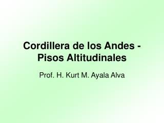 Cordillera de los Andes - Pisos Altitudinales