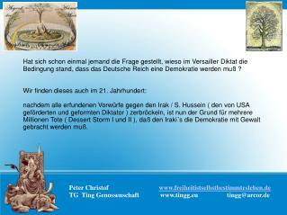Peter Christof                               freiheitistselbstbestimmtesleben.de TG  Ting Genossenschaft             tin