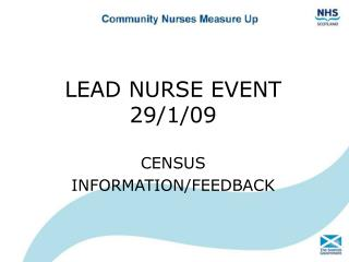 LEAD NURSE EVENT  29