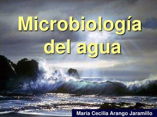 Microbiolog a  del agua
