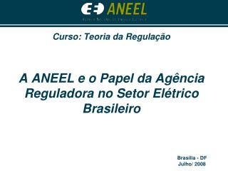 Curso: Teoria da Regula  o   A ANEEL e o Papel da Ag ncia Reguladora no Setor El trico Brasileiro