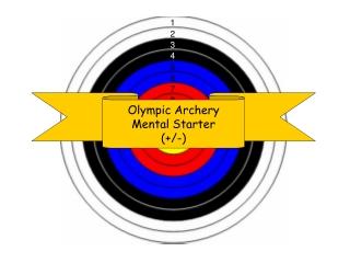 Olympic Archery Mental Starter