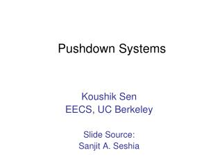 Pushdown Systems