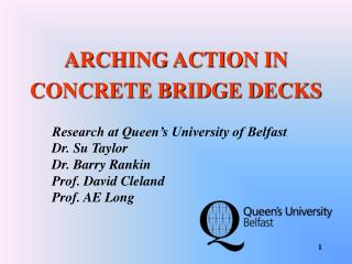 ARCHING ACTION IN CONCRETE BRIDGE DECKS