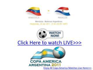 enjoy!! venezuela vs paraguay live hd!! semifinal copa'11