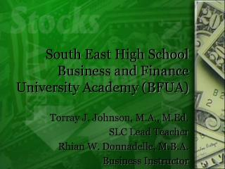 South East High School Business and Finance University Academy BFUA