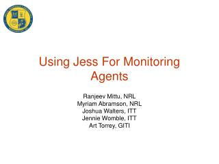 Using Jess For Monitoring Agents