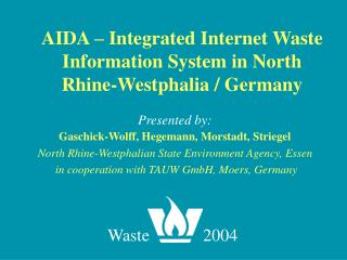 AIDA   Integrated Internet Waste Information System in North Rhine-Westphalia
