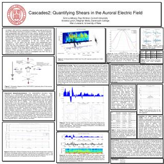 Cascades2: Quantifying Shears in the Auroral Electric Field  Erik Lundberg, Paul Kintner, Cornell University Kristina Ly