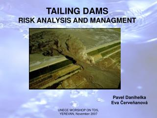 TAILING DAMS RISK ANALYSIS AND MANAGMENT