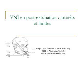 VNI en post-extubation : int r ts et limites