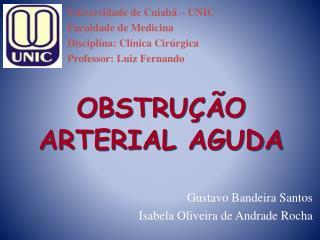 OBSTRU  O ARTERIAL AGUDA