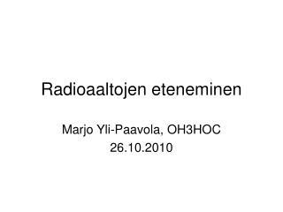 Radioaaltojen eteneminen