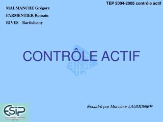 CONTR LE ACTIF