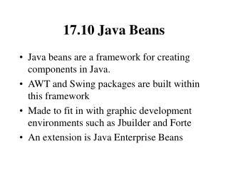 17.10 Java Beans