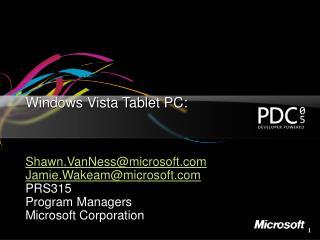 Windows Vista Tablet PC: