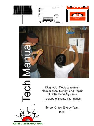 Diagnosis, Troubleshooting, Maintenance, Survey, and Repair of Solar Home Systems Includes Warranty Information  Border