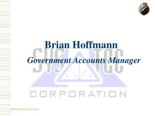 Brian Hoffmann  Government Accounts Manager