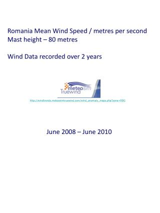 Romania Mean Wind Speed