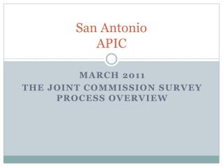 San Antonio  APIC