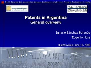 Patents in Argentina General overview