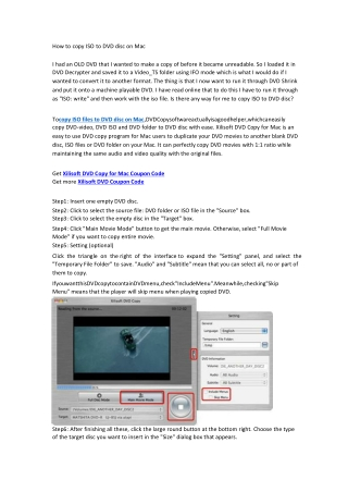How to copy ISO to DVD disc on Mac