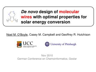De novo design of molecular wires with optimal properties for solar energy conversion