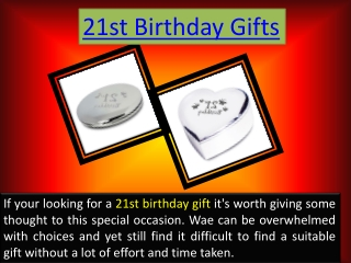 21st Birthday Gifts