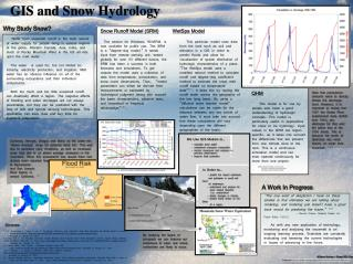 GIS and Snow Hydrology