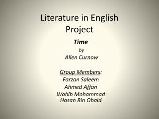 Literature in English Project