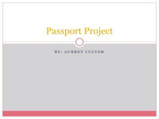 Passport Project