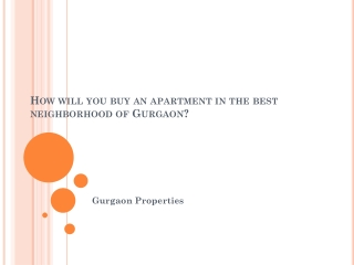 Gurgaon Properties
