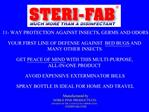 Manufactured by   NOBLE PINE PRODUCTS CO. DIVISION OF THE CASTOLEUM CORPORATION STERIFAB