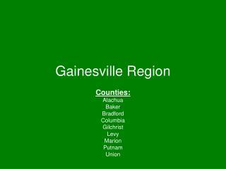 Gainesville Region