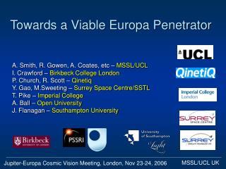 Towards a Viable Europa Penetrator