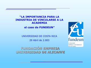 FUNDACI N EMPRESA UNIVERSIDAD DE ALICANTE
