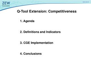 Q-Tool Extension: Competitiveness