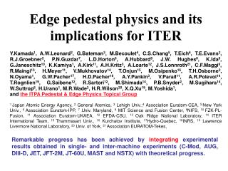 Edge pedestal physics and its implications for ITER