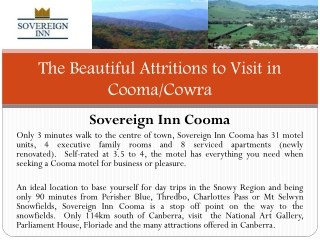 The Beautiful Attritions to Visit in Cooma