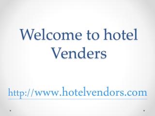 hotel vendors