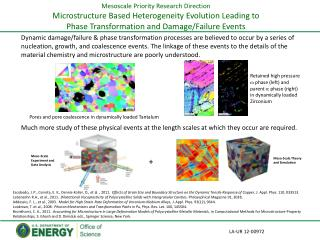 Mesoscale Priority Research Direction Microstructure Based Heterogeneity Evolution Leading to  Phase Transformation and