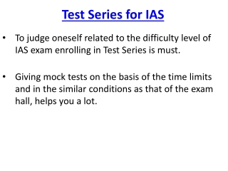 Test Series for IAS