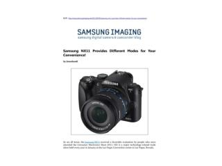 samsung nx11 provides different modes for your convenience!