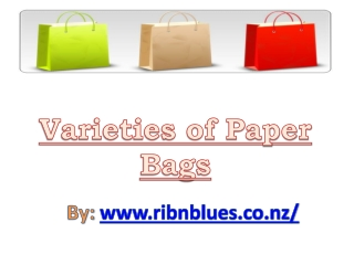 Variety of Paper Bags