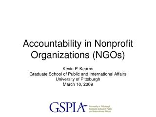 Accountability in Nonprofit Organizations NGOs